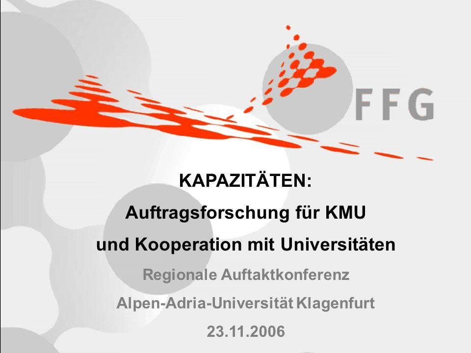 2 Inhalt Definition KMU Kapazitäten: Auftragsforschung im 7.