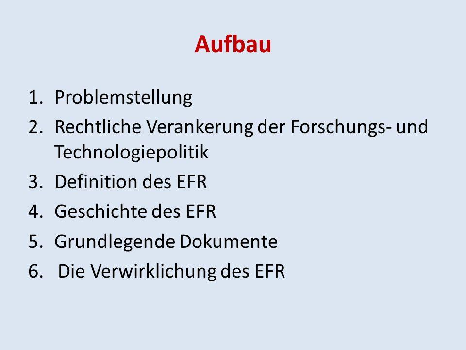 Aufbau 7.Überblick der bisherigen Erfolge und Defizite 8.Grünbuch vom 04.04.2007 9.