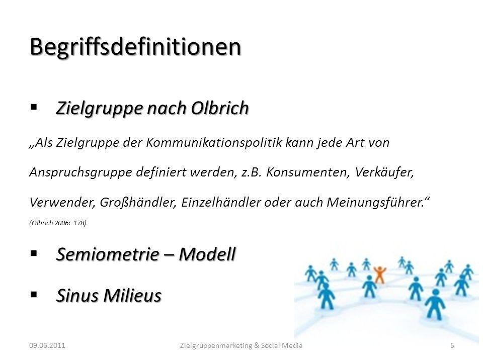 Möglichkeiten zur Zielgruppenfindung 09.06.201116Zielgruppenmarketing & Social Media (Quelle: http://www.integral.co.at/de/sinus/milieus_at.php)