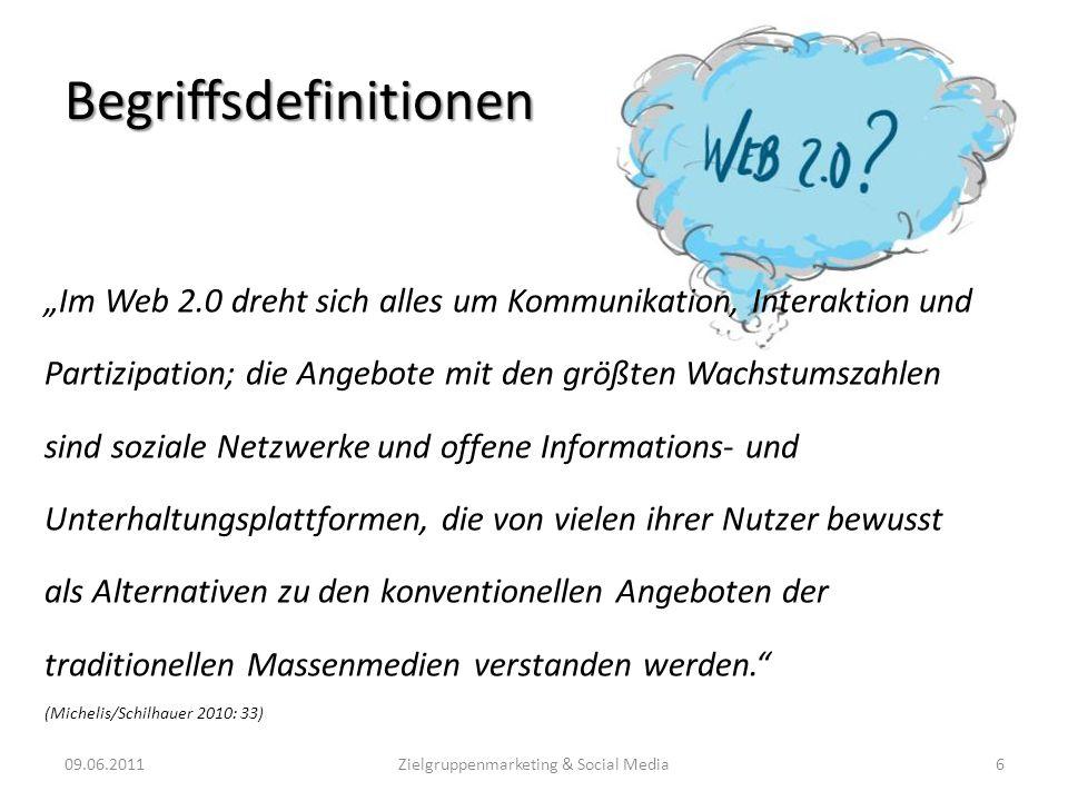 Möglichkeiten zur Zielgruppenfindung 09.06.201117Zielgruppenmarketing & Social Media (Quelle: http://www.socialmediaplanner.de/index.html)