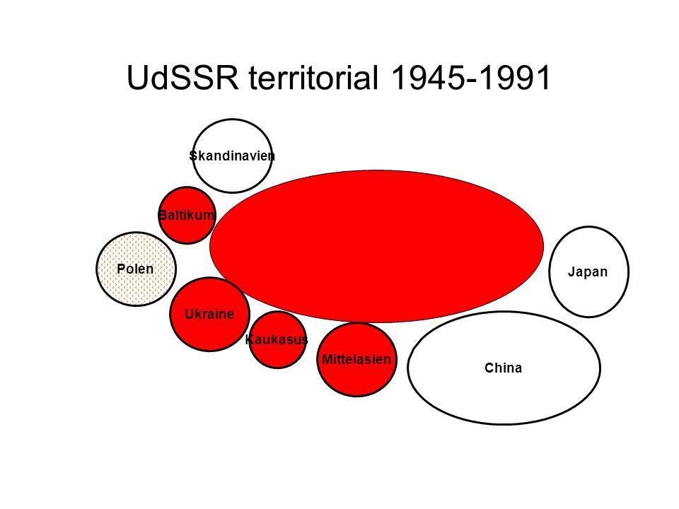UdSSR territorial 1945-1991 Skandinavien Baltikum Polen Ukraine Kaukasus Mittelasien China Japan