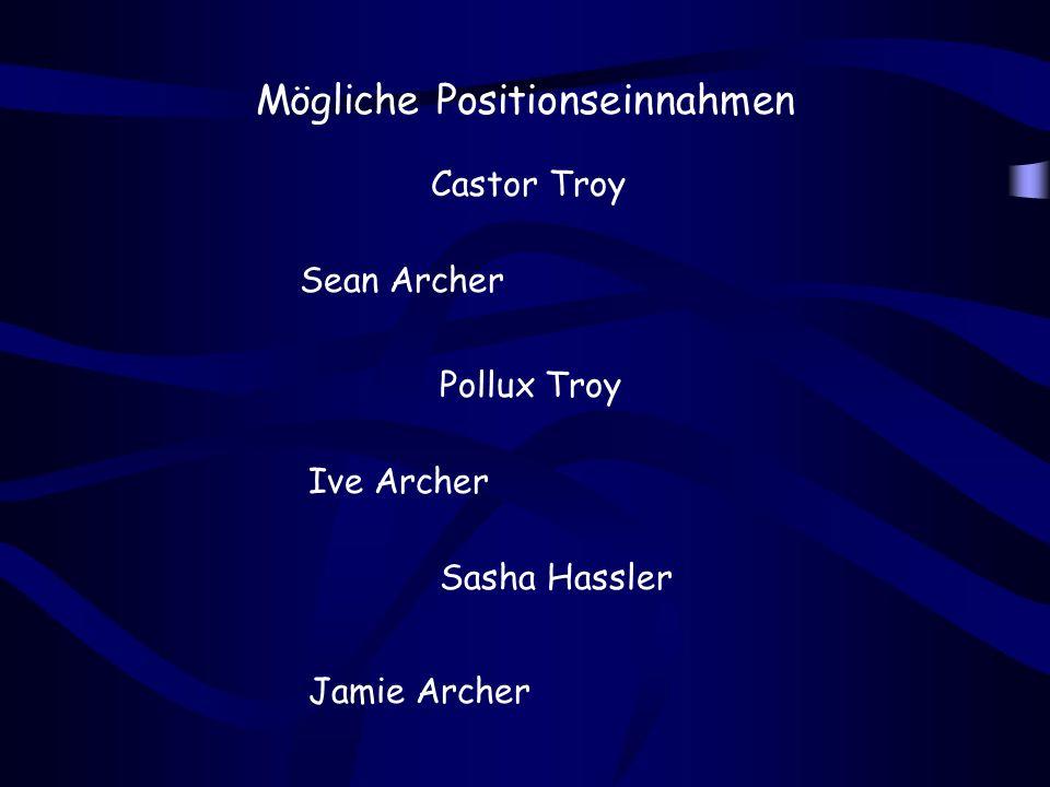 Name : Sean Archer Beruf : FBI - Agent Familienstand : verheiratet Eigenschaften : konservativ ehrgeizig Ziel : Tod Castor Troys aus Rache für den Mord an seinem Sohn