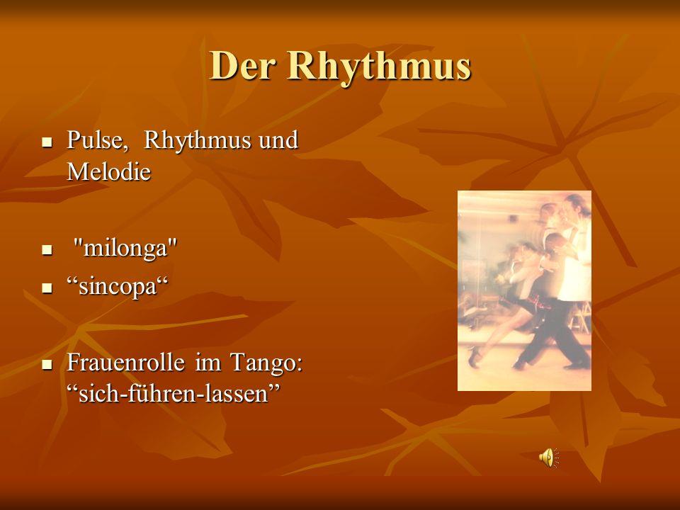 Der Rhythmus Pulse, Rhythmus und Melodie Pulse, Rhythmus und Melodie