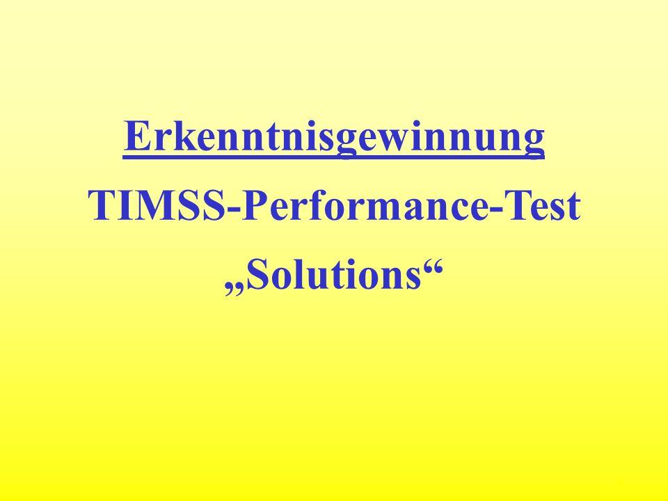 9 Erkenntnisgewinnung TIMSS-Performance-Test Solutions