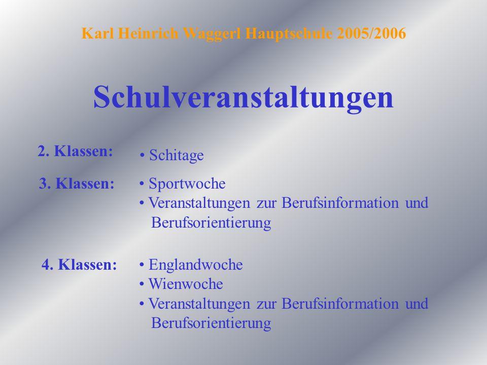 Schwerpunkte Englisch Karl Heinrich Waggerl Hauptschule 2005/2006 gewinnt in der Berufswelt immer mehr an Bedeutung und wird auch im Tourismus dringend benötigt.