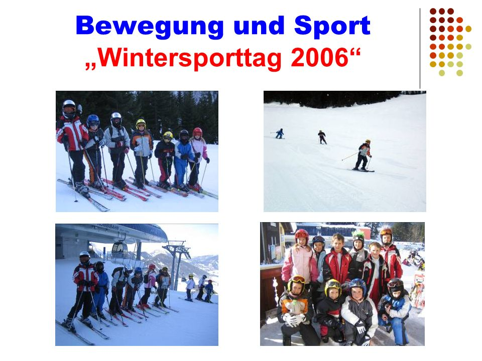 Bewegung und Sport Wintersporttag 2006