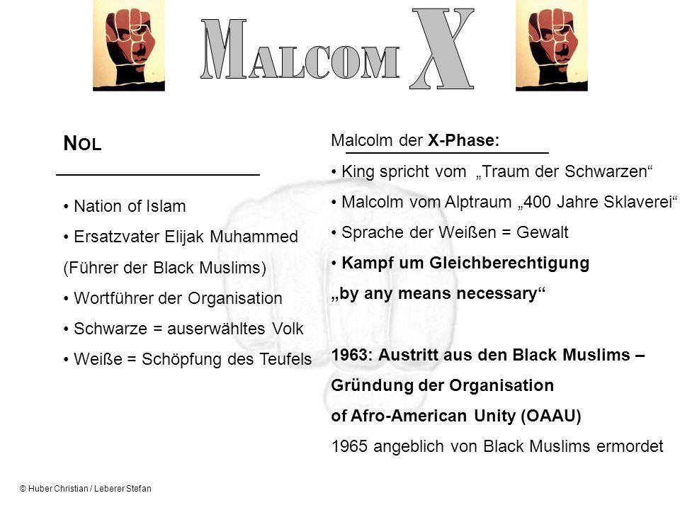 © Huber Christian / Leberer Stefan Malcolm der X-Phase: King spricht vom Traum der Schwarzen Malcolm vom Alptraum 400 Jahre Sklaverei Sprache der Weiß