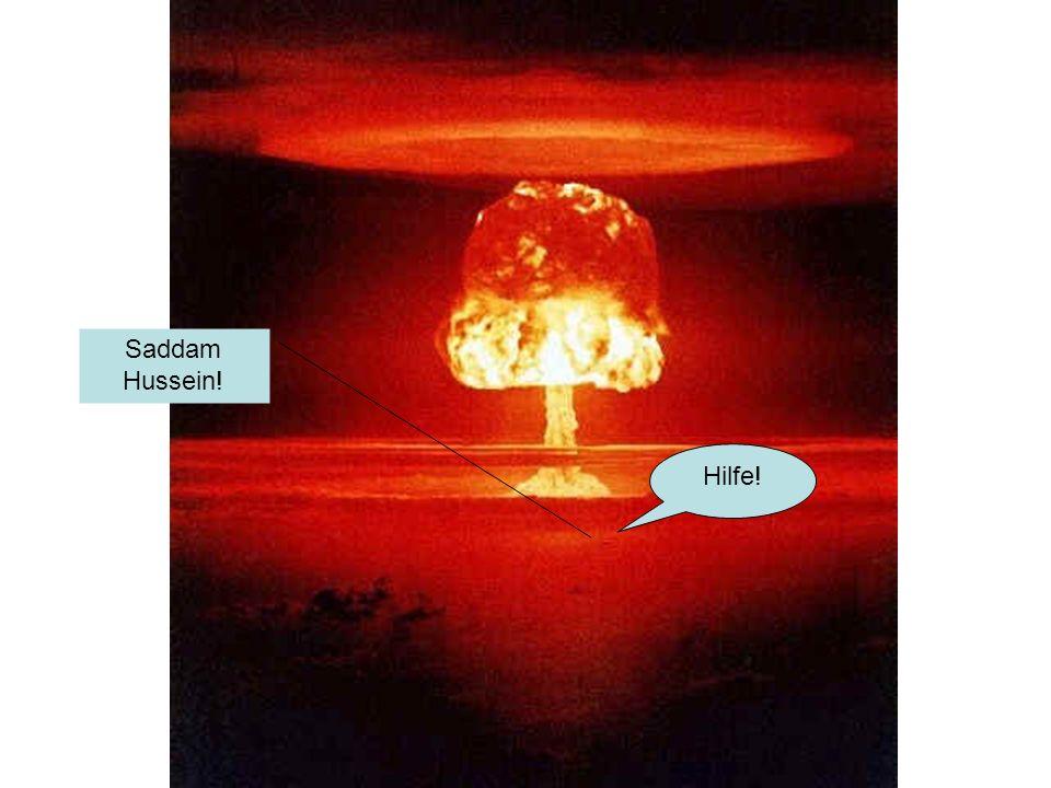 Hilfe! Saddam Hussein!