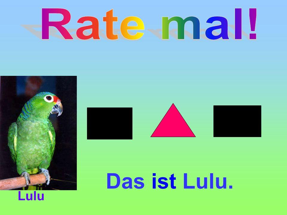 Das ist Lulu. Lulu
