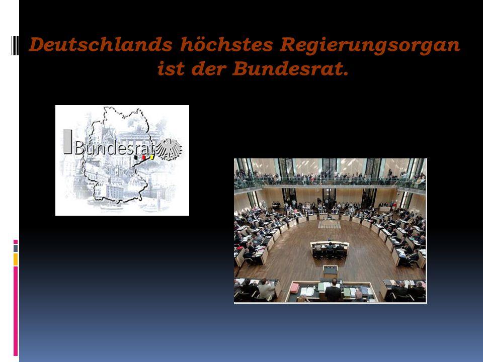 Deutschlands höchstes Regierungsorgan ist die Bundesregierung mit dem Bundeskanzler an der Spitze.