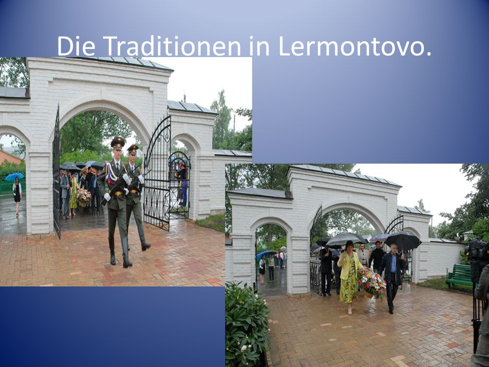 Die Traditionen in Lermontovo.