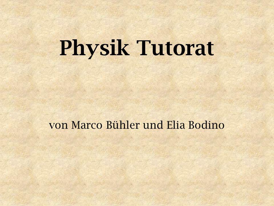 Physik Tutorat von Marco Bühler und Elia Bodino
