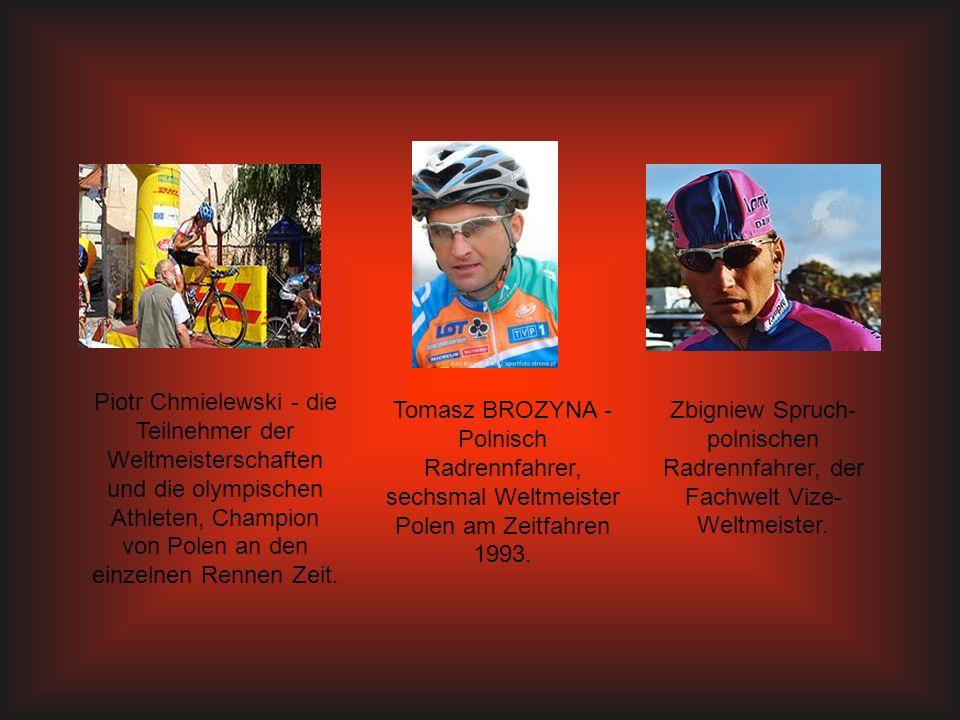 Piotr Chmielewski - die Teilnehmer der Weltmeisterschaften und die olympischen Athleten, Champion von Polen an den einzelnen Rennen Zeit. Tomasz BROZY