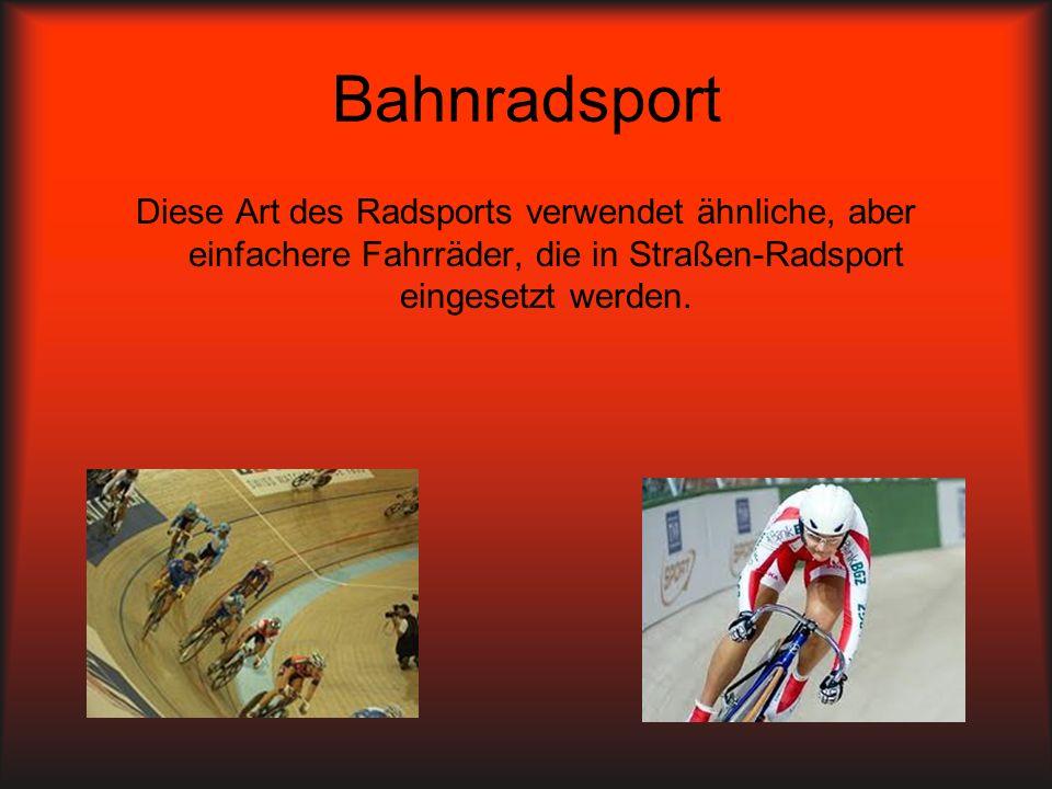 Mountain Radsport Form der Radsport die Mountainbikes verwendet.