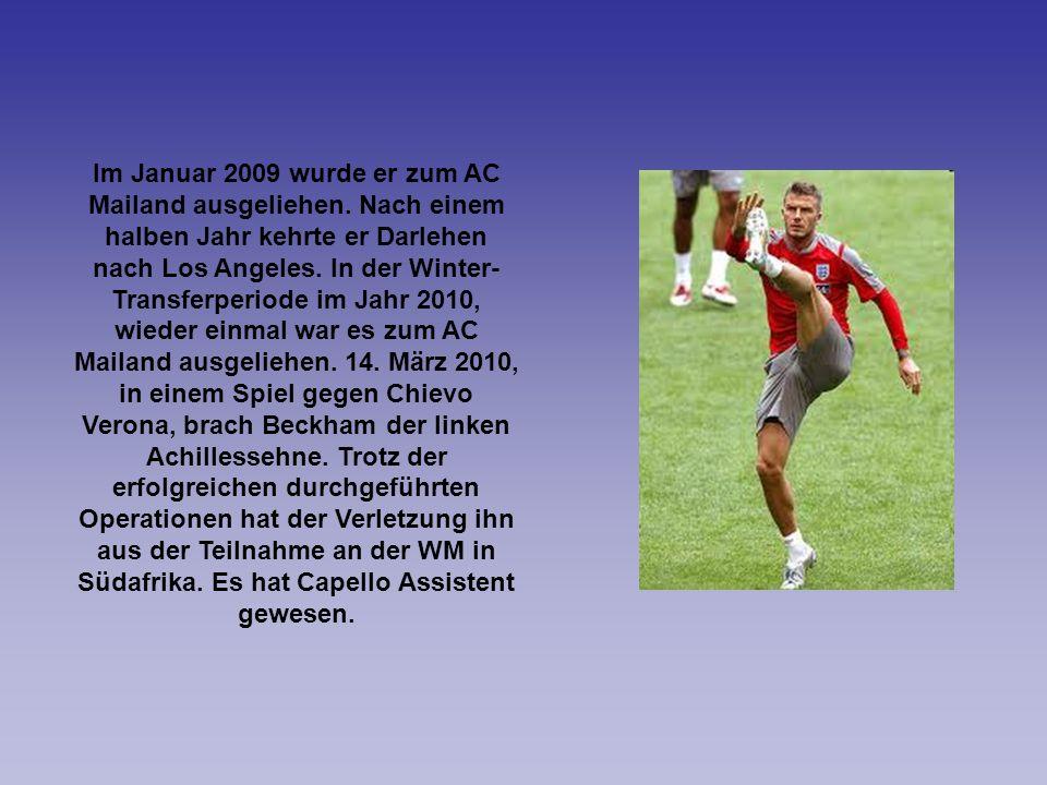 Im Januar 2009 wurde er zum AC Mailand ausgeliehen. Nach einem halben Jahr kehrte er Darlehen nach Los Angeles. In der Winter- Transferperiode im Jahr