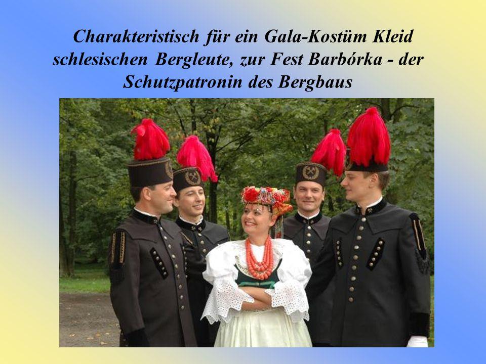 Charakteristisch für ein Gala-Kostüm Kleid schlesischen Bergleute, zur Fest Barbórka - der Schutzpatronin des Bergbaus
