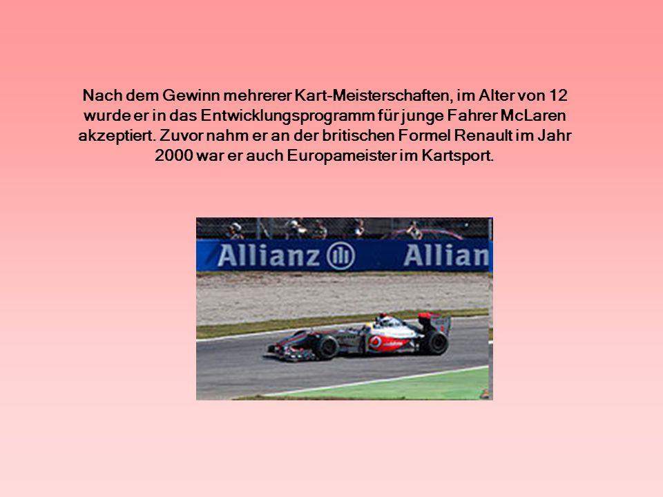 Im Jahr 2005 gewann die Serie Formel 3 Euro Serie, Fahren für das Team ASM.