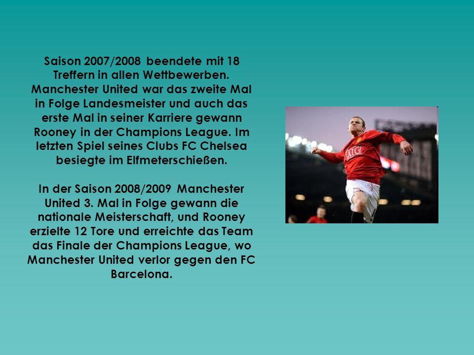 Saison 2007/2008 beendete mit 18 Treffern in allen Wettbewerben. Manchester United war das zweite Mal in Folge Landesmeister und auch das erste Mal in