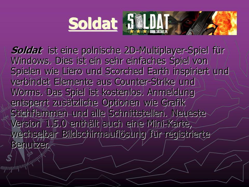 Soldat Soldat ist eine polnische 2D-Multiplayer-Spiel für Windows.