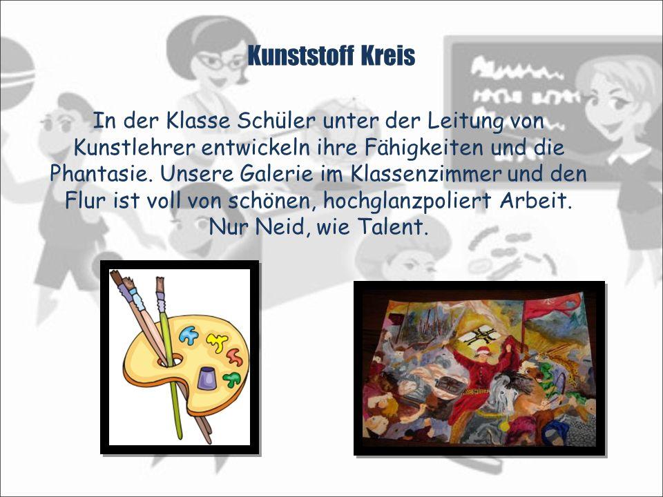 Kunststoff Kreis In der Klasse Schüler unter der Leitung von Kunstlehrer entwickeln ihre Fähigkeiten und die Phantasie.