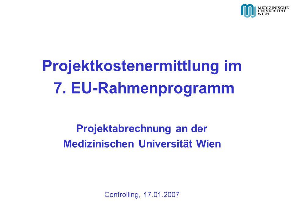 Projektkostenermittlung im 7.