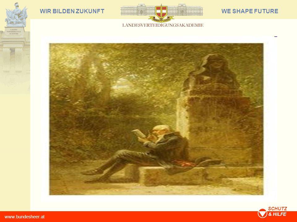 WE SHAPE FUTUREWIR BILDEN ZUKUNFT www.bundesheer.at SCHUTZ & HILFE Annäherung an die Fragestellung Rekonstruktion einiger psychologischer Aspekte der Erkenntnis- und Wissensgewinnung