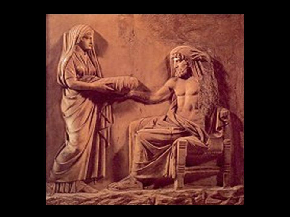 Sie war die älteste Tochter des Kronos und der Rhea, Schwester des Zeus, wurde von ihrem Vater verschlungen, aber durch die List ihrer Mutter gerettet.