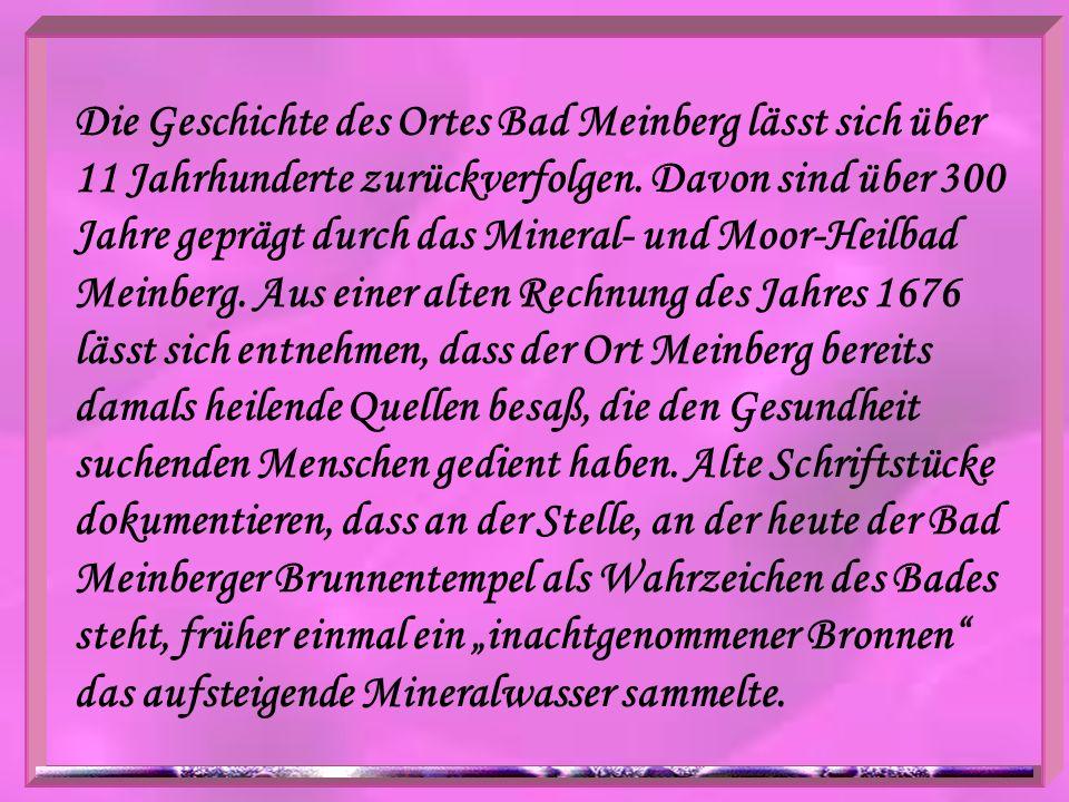 Die Geschichte des Ortes Bad Meinberg lässt sich über 11 Jahrhunderte zurückverfolgen. Davon sind über 300 Jahre geprägt durch das Mineral- und Moor-H