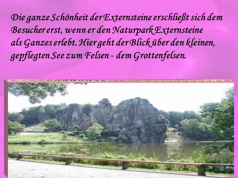 Die ganze Schönheit der Externsteine erschließt sich dem Besucher erst, wenn er den Naturpark Externsteine als Ganzes erlebt. Hier geht der Blick über