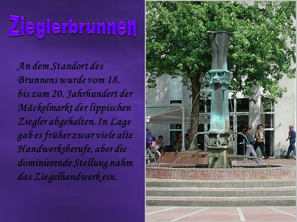 An dem Standort des Brunnens wurde vom 18.bis zum 20.