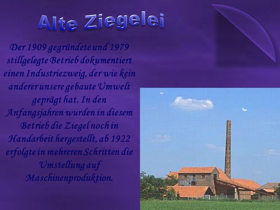 Der 1909 gegründete und 1979 stillgelegte Betrieb dokumentiert einen Industriezweig, der wie kein anderer unsere gebaute Umwelt geprägt hat.