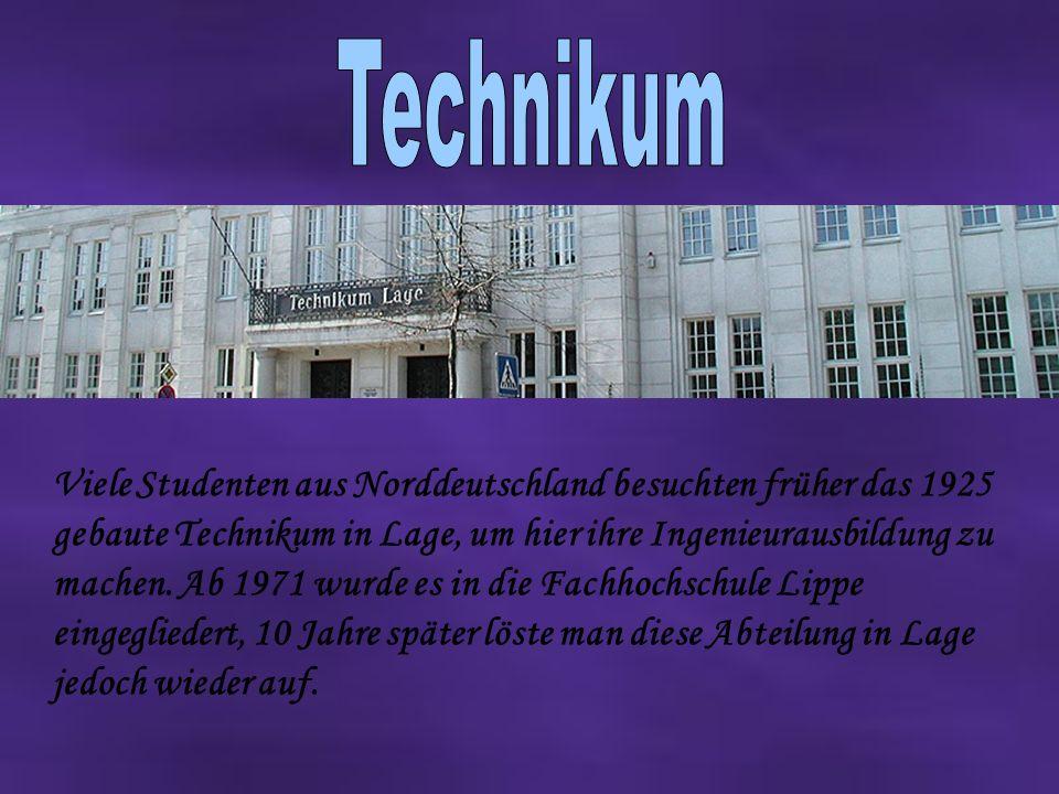 Viele Studenten aus Norddeutschland besuchten früher das 1925 gebaute Technikum in Lage, um hier ihre Ingenieurausbildung zu machen.