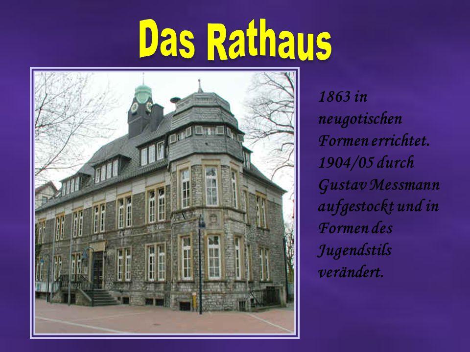 1863 in neugotischen Formen errichtet.