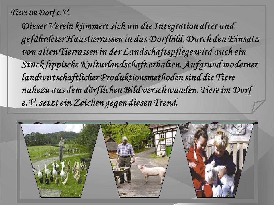 Dörentrup trägt als bundesweites Alleinstellungsmerkmal den Titel Dorf der Tiere Offizielles Logo des Verkehrsverein e.V.
