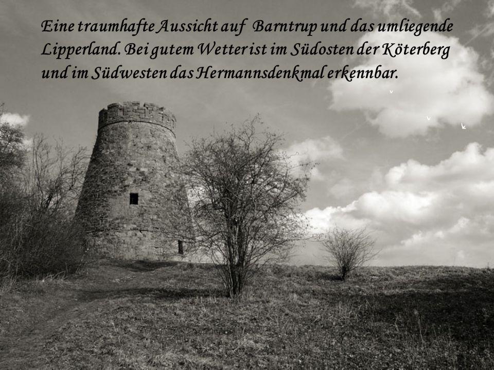 Eine traumhafte Aussicht auf Barntrup und das umliegende Lipperland. Bei gutem Wetter ist im Südosten der Köterberg und im Südwesten das Hermannsdenkm