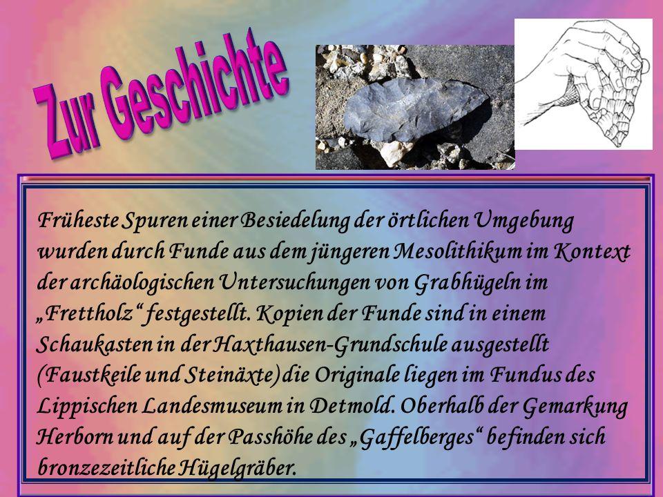 Früheste Spuren einer Besiedelung der örtlichen Umgebung wurden durch Funde aus dem jüngeren Mesolithikum im Kontext der archäologischen Untersuchunge