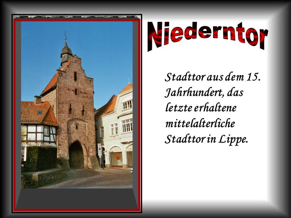 Stadttor aus dem 15. Jahrhundert, das letzte erhaltene mittelalterliche Stadttor in Lippe.