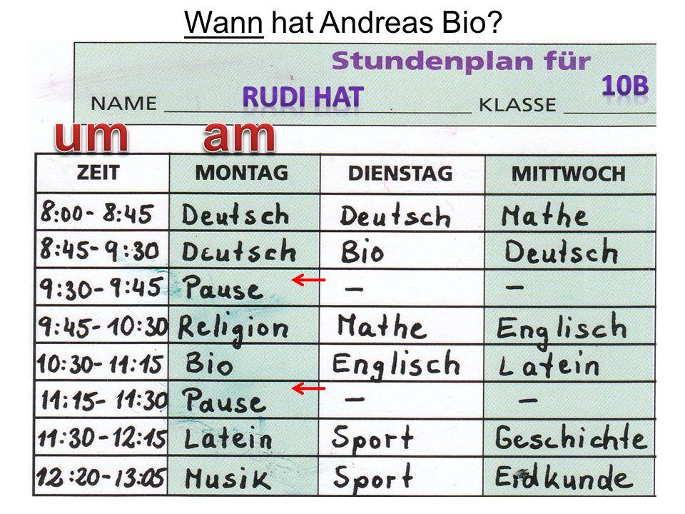 56 Wann hat Andreas Bio?
