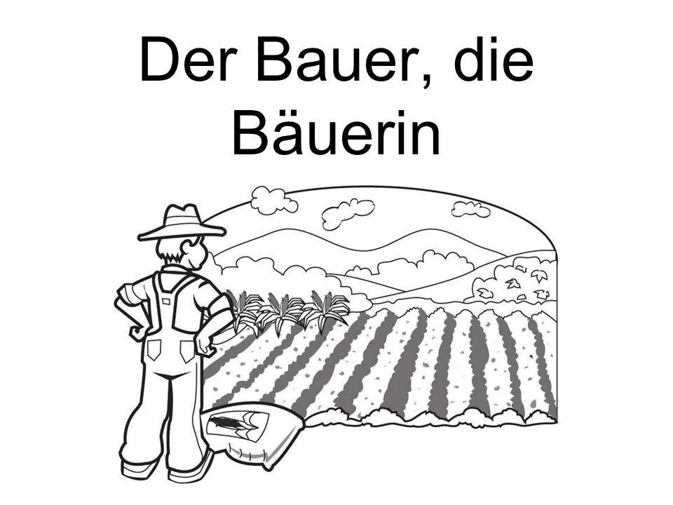 Der Bauer, die Bäuerin