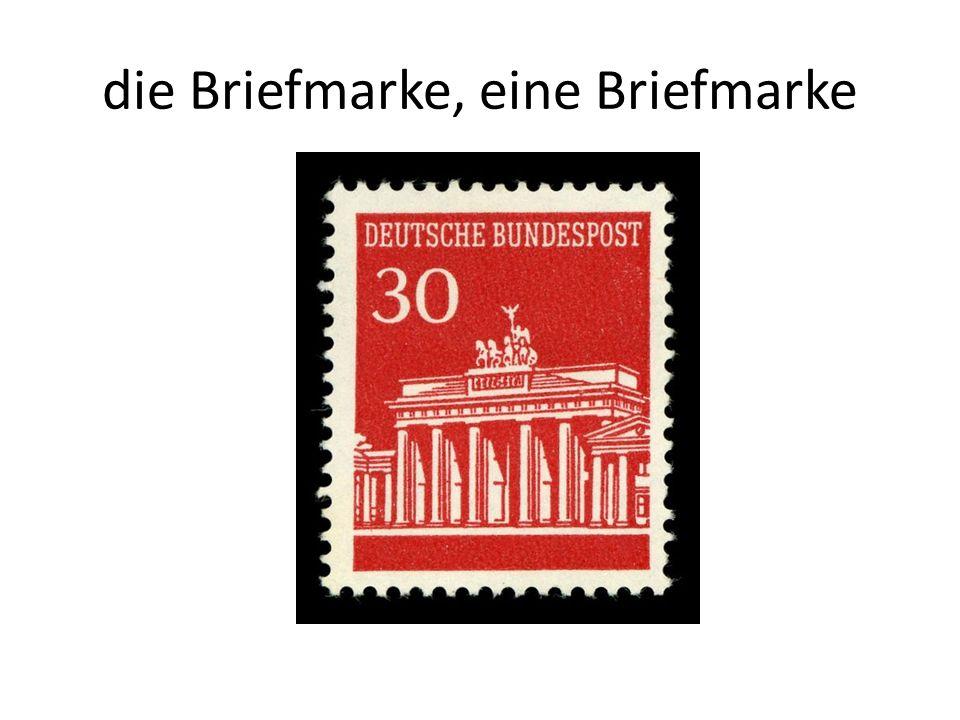 die Briefmarke, eine Briefmarke