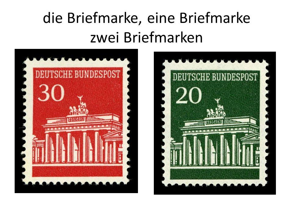 die Briefmarke, eine Briefmarke zwei Briefmarken