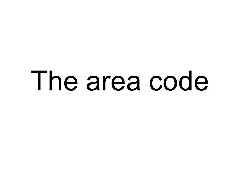 The area code