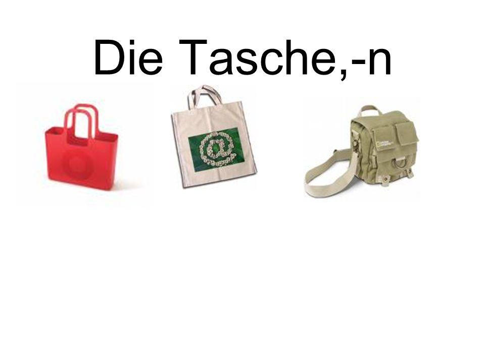 Die Tasche,-n bag