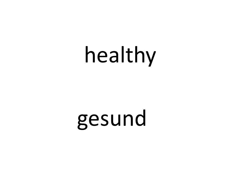 healthy gesund