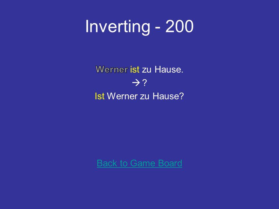Inverting - 100