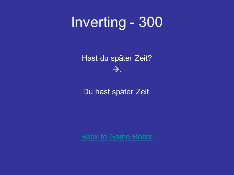 Inverting - 200