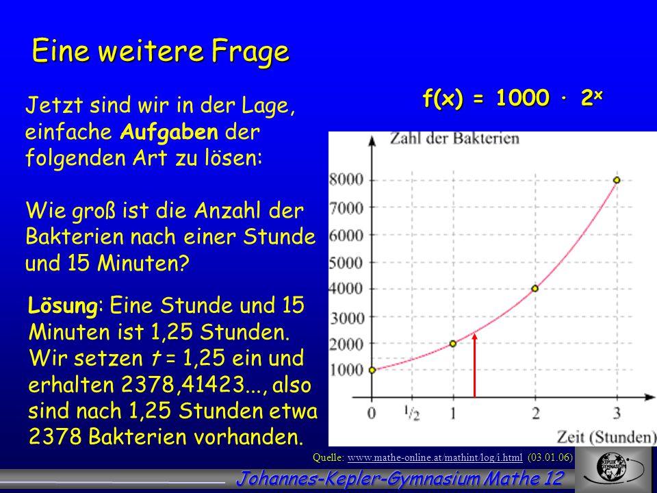 Quelle: www.mathe-online.at/mathint/log/i.html (03.01.06)www.mathe-online.at/mathint/log/i.html Jetzt sind wir in der Lage, einfache Aufgaben der folg