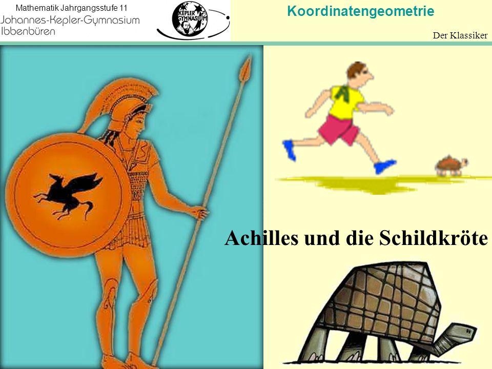 Koordinatengeometrie Mathematik Jahrgangsstufe 11 Der Klassiker Achilles und die Schildkröte