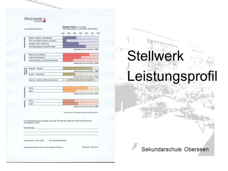 Sekundarschule Oberseen Stellwerk Leistungsprofil