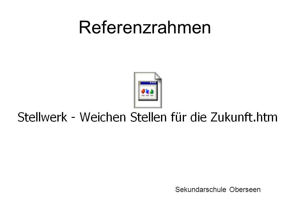 Referenzrahmen Sekundarschule Oberseen